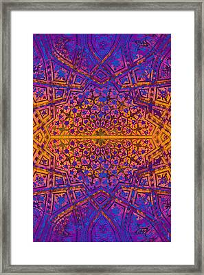 Bukhara Flower Dome Framed Print