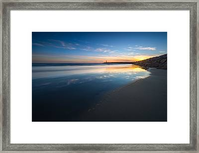 Bule Reflections Framed Print by Larry Marshall