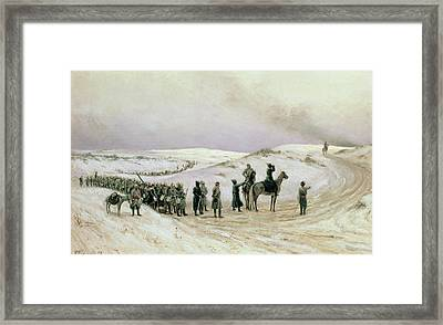 Bulgaria, A Scene From The Russo-turkish War Of 1877-78, 1879 Oil On Canvas Framed Print