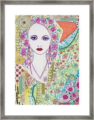 Bulgarian Folk Girl Framed Print