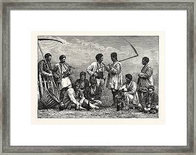 Bulgarian Peasants Framed Print by Litz Collection