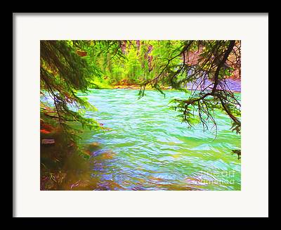 River Flooding Mixed Media Framed Prints