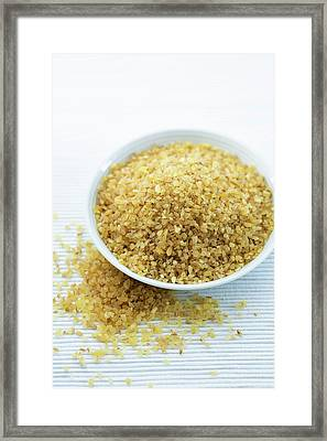 Bulgur Wheat Framed Print by Gustoimages