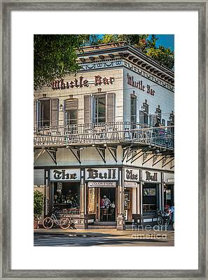 Bull And Whistle Key West - Hdr Style Framed Print