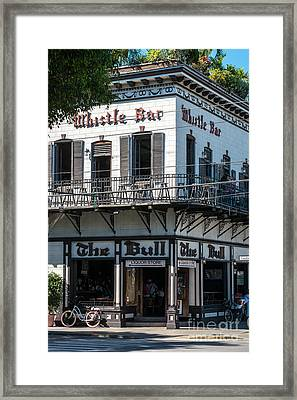 Bull And Whistle Key West  Framed Print by Ian Monk