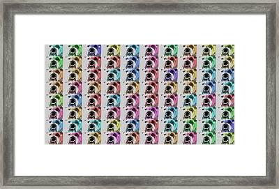 Bulldog Pop Art Collage Framed Print