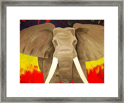 Bull Elephant Prime Colors Framed Print