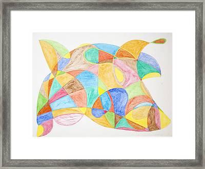 Bull Fish Car Face Framed Print by Stormm Bradshaw
