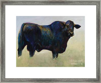 Bull Framed Print by Frances Marino