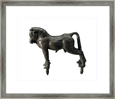 Bull From Azaila. Iberian Art Framed Print by Everett
