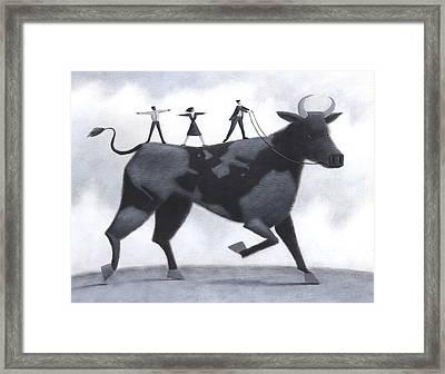 Bull Globe Framed Print