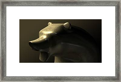Bull Market Bronze Casting Contrast Framed Print