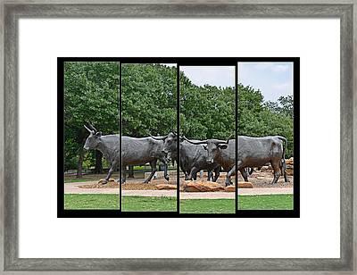 Bull Market Quadriptych Framed Print by Christine Till