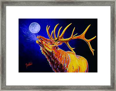Bull Moon Framed Print by Teshia Art