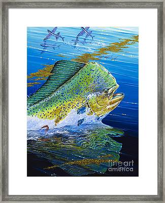 Bull Reflection Off0032 Framed Print by Carey Chen