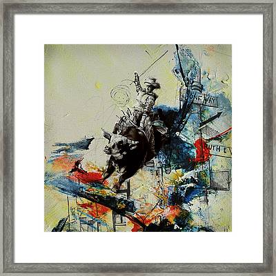 Bull Rodeo 02 Framed Print by Corporate Art Task Force
