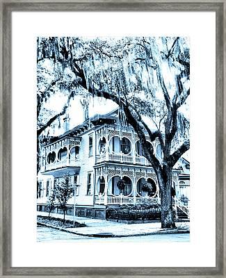 Bull Street House Savannah Ga Framed Print