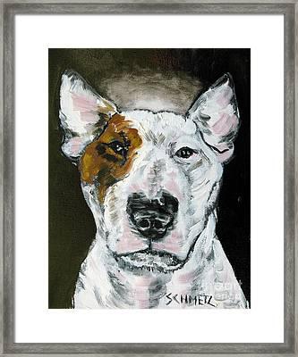 Bull Terrier Angel Framed Print by Jay  Schmetz