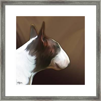 Bull Terrier By Bullylove Framed Print by Bullylove DE