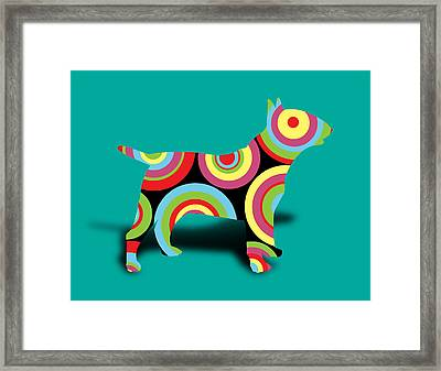 Bull Terrier Framed Print by Mark Ashkenazi