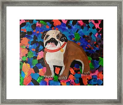 Bulldog Abstract Framed Print by Ryan Griswold