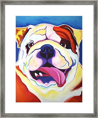 Bulldog - Grin Framed Print by Alicia VanNoy Call