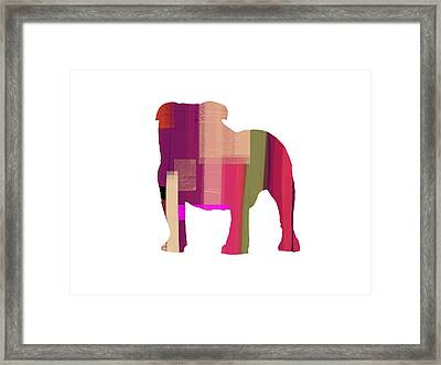 Bulldog Framed Print by Naxart Studio