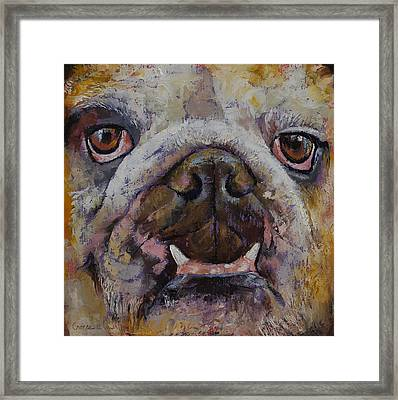 Bulldog Framed Print by Michael Creese