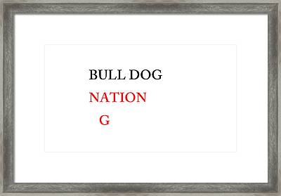 Bulldog Nation Framed Print by Aaron Martens