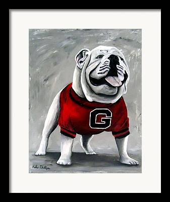 Georgia Bulldog Framed Prints