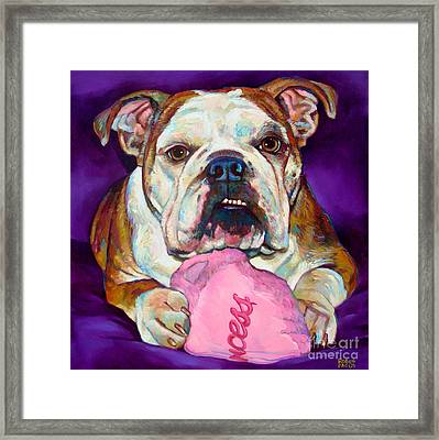 Bulldog Princess Framed Print by Robert Phelps