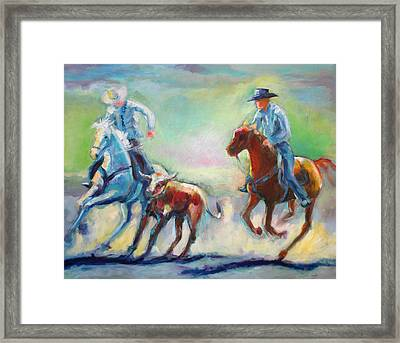 Bulldogging Framed Print