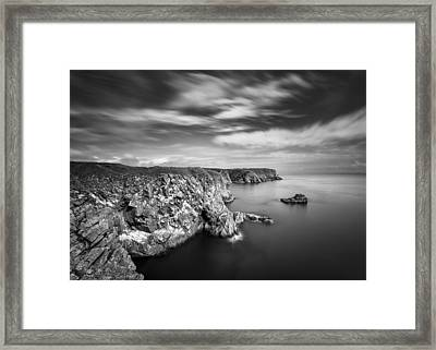 Bullers Of Buchan Cliffs Framed Print