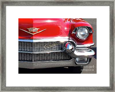 Bullet Bumpers - 1956 Cadillac Framed Print