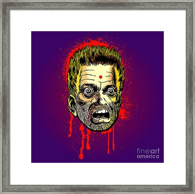 Bullet Head Framed Print by Sasha Keen
