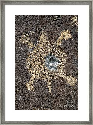 Bullet Hole Framed Print by Chris Selby