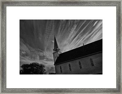 Framed Print featuring the photograph Bullet Riddled Church by Ryan Crouse