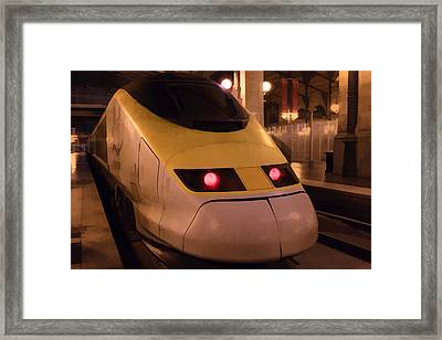 Bullet Train Art Framed Print
