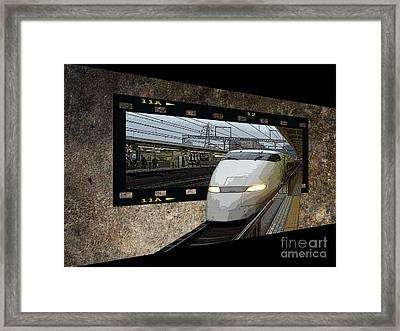 Bullet Train Oof Framed Print by Yvonne Johnstone