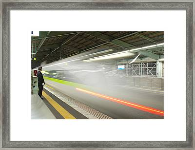 Bullet Train Framed Print by Sebastian Musial
