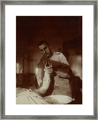 Bullet Wound Framed Print by Library Of Congress