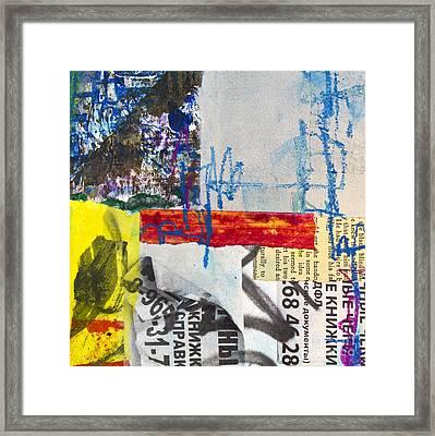 Bulletin Board Framed Print by Elena Nosyreva