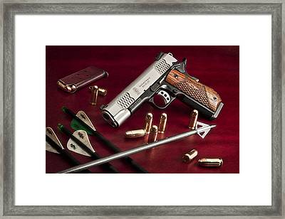 Bullets And Broadheads Framed Print by Tom Mc Nemar