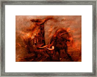Bullfight Framed Print