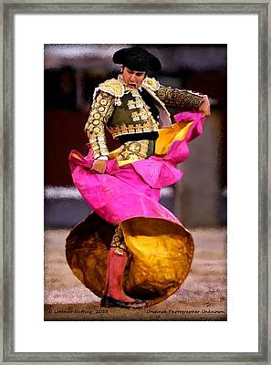 Bullfighter Dance Framed Print by Bruce Nutting