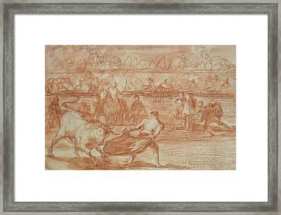 Bullfighting Framed Print by Goya
