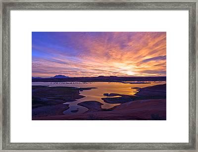 Bullfrog Marina Sunrise  Framed Print