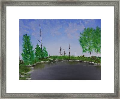 Bullfrog Reservoir Framed Print by Jennifer Muller