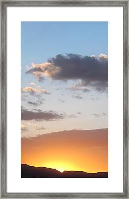 Bullhead Sunset Framed Print