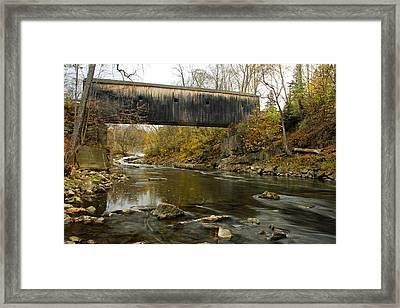 Framed Print featuring the photograph Bulls Bridge by Dan Myers